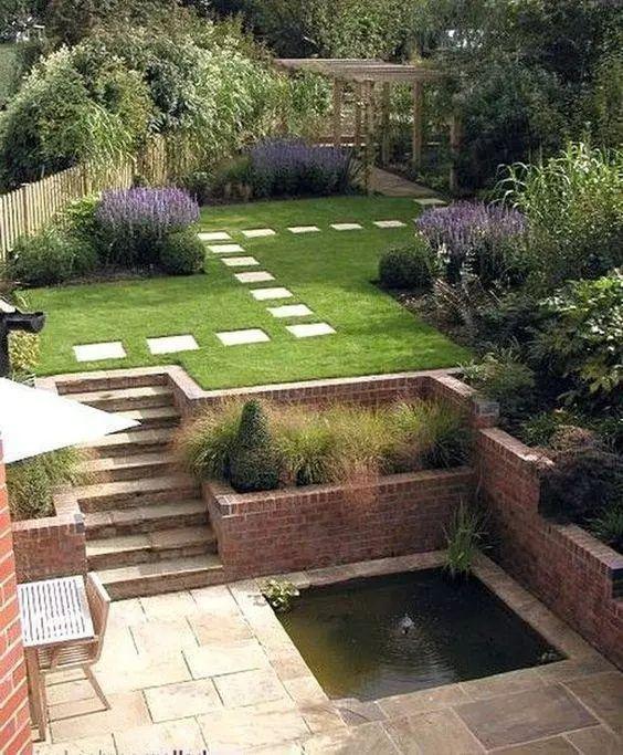 青岛庭院使用错层造型设计,双庭院垂手可得